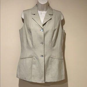 Parisian silk/linen sleeveless jacket or vest